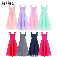 iEFiEL Kids Girls Flower Dress for Party and Wedding Bridesmaid Floral Lace Girls Dress Ball Gown Prom Formal Maxi Dresses 4-14Y