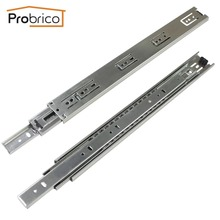 "Probrico 1 Pair 16"" Ball Bearing Slides Kitchen Furniture Drawer Rail Steel Full Extension Guides Glides Heavy Duty DSHH30-16"