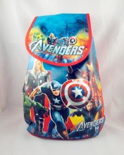 12Pcs The Avengers Hulk Thor Captain America Cartoon Kids Drawstring Backpack Shopping School Traveling Party Bags Gift 33*36CM(China)