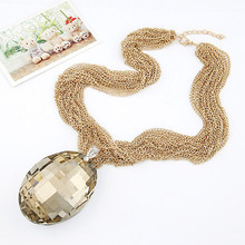 12 pcs/lot European and American fashion Baroque style artificial stone multi - layer short necklace