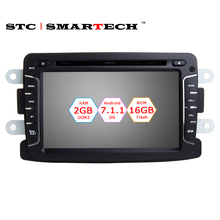 1 Din Android 7.1.2 OS 2GB RAM Car GPS Navigation Head Unit For Lada XRAY 2 Dacia Duster Sandero Renault Duster Captur Logan 2(China)