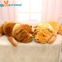 BOOKFONG 1pc 100CM Huge Stuffed Animal Shar Pei Dog Plush Toy High Quality Plush Toy Gift for Children
