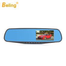 Original Beling Rearview Mirror Dash Camera 4.3in Full HD 1080P Video Cam Wide Angle Vehicle Camera Rear Lens Image WDR Car DVR(China)