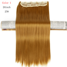 "Neverland Straight Synthetic 5Clips Hair Extension Hairpiece Clip In Hairs 24"" 60cm Long Style Hair Piece Pure Honey Blonde"