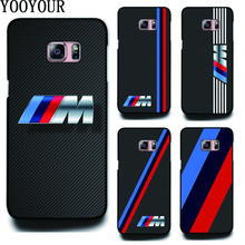 Yooyour Slim BMW hard plastic Cover Case For Samsung Galaxy S2 S3 S3mini S4 S4mini S5 S5mini S6 S6Edge PLUS S7 S7Edge S8 S8PLUS(China)