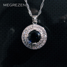 Bohemian Silver Necklaces Fashion Jewelry Crystal Gem Necklace Necklace Pendant With Blue Stone Collier Fantaisie Ras De Cou 002