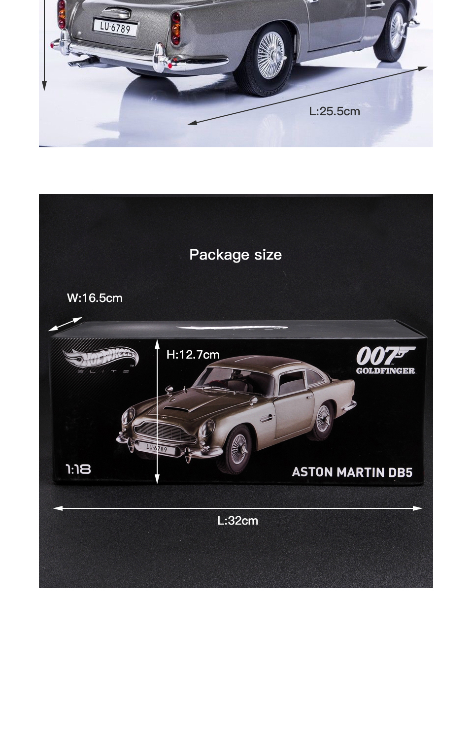 1 18 scale car models 2-4 Years james bond 007 collectables Aston Matin DB5 Diecasts & Toy Vehicles Model Toys For Gifts (6)
