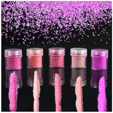 1 Bottle 10ml 5 Colors Optional Pink Shining 3D Nail Glitter Acrylic Glitters Powder Tips Nail Art Decorations For Nails Polish