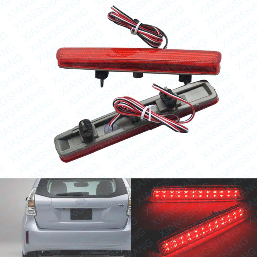 2x Red LED Rear Bumper Reflector Light Tail Brake Parking Warning  Lamp for Toyota Spade Esquire NOAH/VOXY 80 Prius 40<br><br>Aliexpress