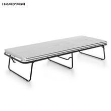 iKayaa Portable Single Folding Guest Bed with Mattress & Cover Metal Frame 110kg Capacity Bed Home Furniture US Stock