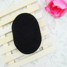 Good Sale 1 pcs Soft Big And Thick Natural Black Bamboo Sponge Beauty Face Cleaning Wash Makeup Puff