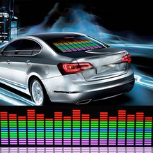 New Arrival 70cm Colorful Car Music Rhythm Sound Activated Equalizer LED Light Lamp Car Sticker Store 47