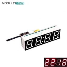Red 3 in 1 LED DS3231SN Digital Clock Temperature Voltage Module DIY Electronic Time Thermometer Voltmeter DC 5V-30V(China)