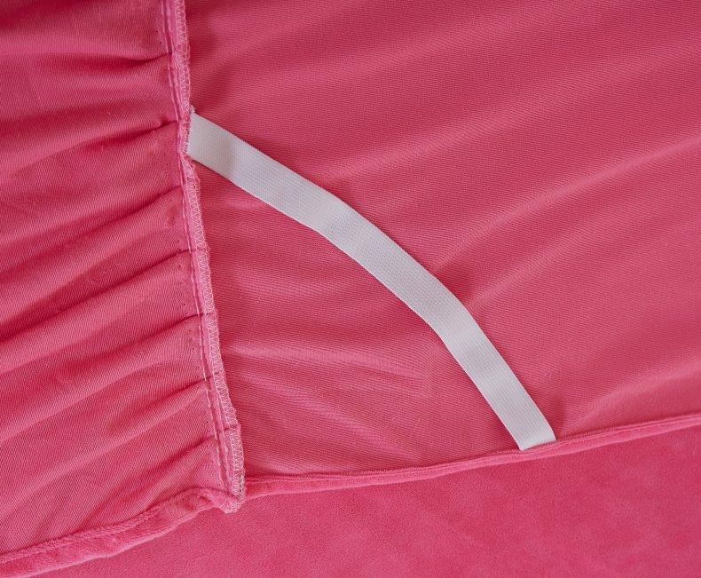 3Pcs Fleece Bed Skirt Set W/ Pillowcases, Mattress Protective Cover 24