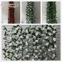 flower all over gulf Artificial Wisteria pudding wedding arch square rattan simulation flowers hanging basket can be extension