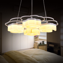 LED Acrylic Flower Floral Shape Pendant Lights Hanging Lamp Hanglamp for Home Kitchen Table Restaurant Bar Sitting Room Bedroom(China)