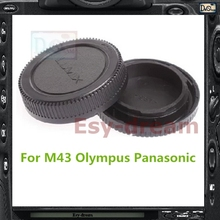 Rear Lens Cap Cover + Camera Front Body Cap For Panasonic Olympus Micro 4/3 M4/3 M43 EP5 EPL6 EPL7 EPM2 EM5 EM10 GH3 G5 G6 GX1