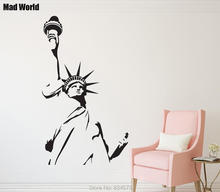Mad World-New York Statue of Liberty Wall Art Stickers Wall Decal Home DIY Decoration Removable Room Decor Wall Stickers()