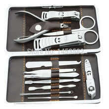 12 in 1 Nail Clipper Kit Nail Care Set Pedicure Ear pick Utility Stainless Steel Manicure Set Tools(China)