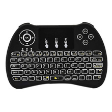 Mini Backlit Wireless Keyboard H9 With Touchpad Mouse Handheld Remote Keyset For PC Pad Android TV Box Google HTPC IPTV(China)