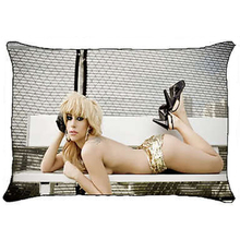 New Hot Lady Gaga Pillowcase Sexy Lady Gaga Pillow Cover Case Custom Polyester Print Rectangle Pillowcover Bedding Gift Two Side