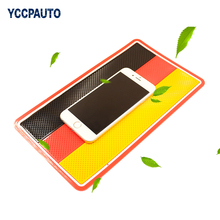 YCCPAUTO Germany Flag Anti-Slip Dashboard Pad Sticky Silicon Non Slip Mat For Phone Sunglass Holder 14.5x26cm Good Quality 1PCS(China)