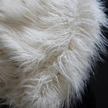 FreeShipping mongolian curly sheep 8cm long pile Faux Fur Fabric yard available,150*50cm one piece fur textile cloth