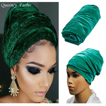 2017Hot sale Queency Newest African headwrap and scarf, Multi-colored soft African headtie, african turban gele for women.HQT02