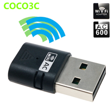 AC 600Mbps Dual Band 2.4Ghz 5Ghz USB WiFi Dongles AC600 Wireless-N Network Adaptor USB2.0 Wireless Gigabite Speed Dongle(China)