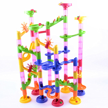 105pcs Marble Race Run DIY Construction Kids Toy Game Building Block Tower Childrens Toy Creative Funny Kid Building Game Set