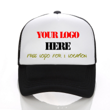 Custom Trucker Cap Free Logo Text Photo Print Adult Men Women Mesh Adjustable Snapback Personalized Gorras Free Shipping(China)