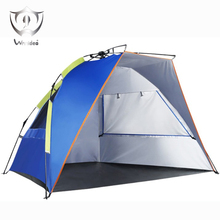 Wnnideo 2-4 Person Instant Pop-up Beach Fishing Tent Waterproof UV Tent Blue Ultralight Wholesale(China)