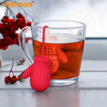 Creative Christmas Gloves Silicone Tea Infuser Filter Teapot Herbal Loose Oolong Black Tea Cup Strainer Coffee Tea Tools Set(China)