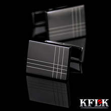 KFLK Jewelry French Shirt Fashion Cufflinks for Men's Brand Cuff links Buttons Black High Quality Free Shipping 2017 New Arrival(China)