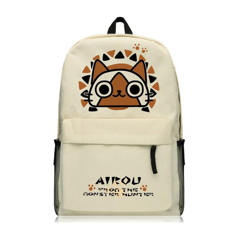 Monster Hunter Backpack Japanese Game Cute Monster School Backpacks for Teenage Girls<br>