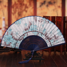 The new 2016 ms manufacturers supply high-grade fine silk hand-painted head gifts wholesale folding fan
