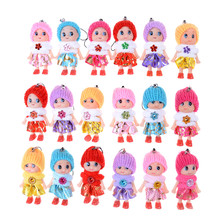 5pcs cute Soft Interactive Baby Dolls Toy Dolls & Stuffed Toys Mini Doll For Girls And Boys Gift Kids Toys(China)