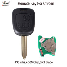 DANDKEY Remote key 433 mhz ID46 Electronic Chip For Citroen Xsara Picasso Berlingo 2002 2003 2004 2005 2006 2007 2008 With Logo