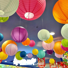 Hot 10-15-20-25-30-35-40cm Chinese Paper Lanterns for Wedding Event Party Decoration Holiday Supplies Paper Ball Tiffany blue