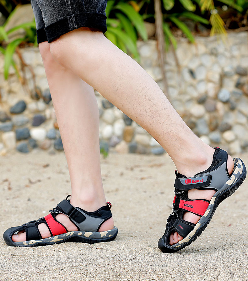 Leader Show Men Fashion Casual Shoes Summer New Adult Outdoor Beach Shoes High Quality Comfortable Man Baotou Sandals Breathable 22 Online shopping Bangladesh
