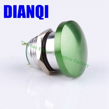 16mm Metal Waterproof Alloy Push Button Switch mushroom Momentary 1NO Button 2pin press button 16MG/HJ,F.K-GR(China)
