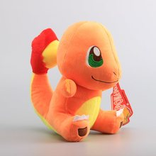 "Japanese Cartoon  Pikachu Charmander Plush Toys Sitting Charmander Stuffed Dolls 10"" 25 CM"