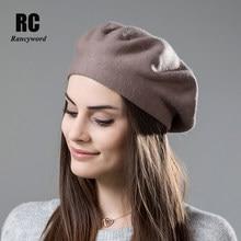 Rancyword  mujeres de alta calidad invierno boinas sombrero Cachemira  boinas de lana para las 0dcaca74927