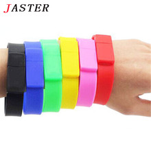 JASTER 6 colors sport bracelet pen drive 4GB 8GB 16GB 32GB usb flash drive portable memory card usb 2.0 wholesale