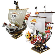 28cm 2 Style One Piece Thousand Sunny Going Merry Pirate ship PVC Action Figure Collectible Model Toy With Box Free shipping
