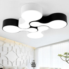 Surface mounted modern led ceiling chandelier lights lamp for living study room bedroom led chandelier lamp fixtures lampshade