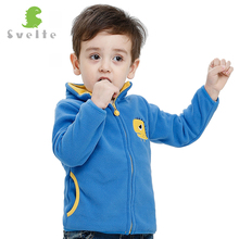 Svelte Brand Fall Autumn Winter Boys Girls Kids Cartoon Embroidery Fur Coat Fleece Jacket Clothes Children Sweatshirts Jersey(China)