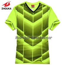 2016 Hot sale design in top quality,football jersey,kids size,in stock,green color(China)
