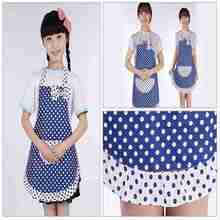 1pc Kids Children Apron Kitchen Cooking Apron Bib Craft Princess Polka Dot Girls Aprons 46x47cm