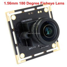 5MP 1.56mm 180 degree fisheye Panoramic lens 5MP 2592X1944 HD Aptina MI5100 CMOS wide angle USB CCTV Camera Module Plug play(China)